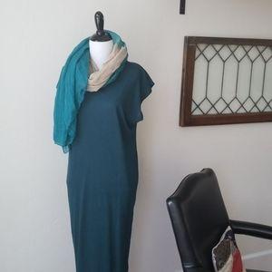 ||FREE PEOPLE|| Peacock blue, knit, maxi dress